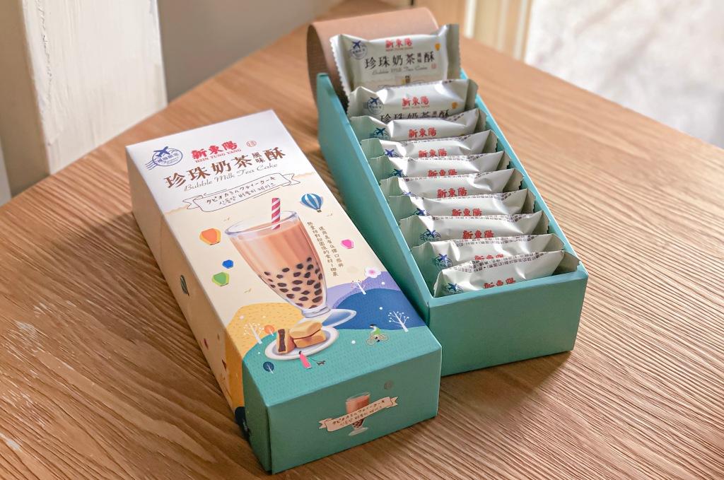 sansan小矮走跳日記-新東陽 珍珠奶茶風味酥