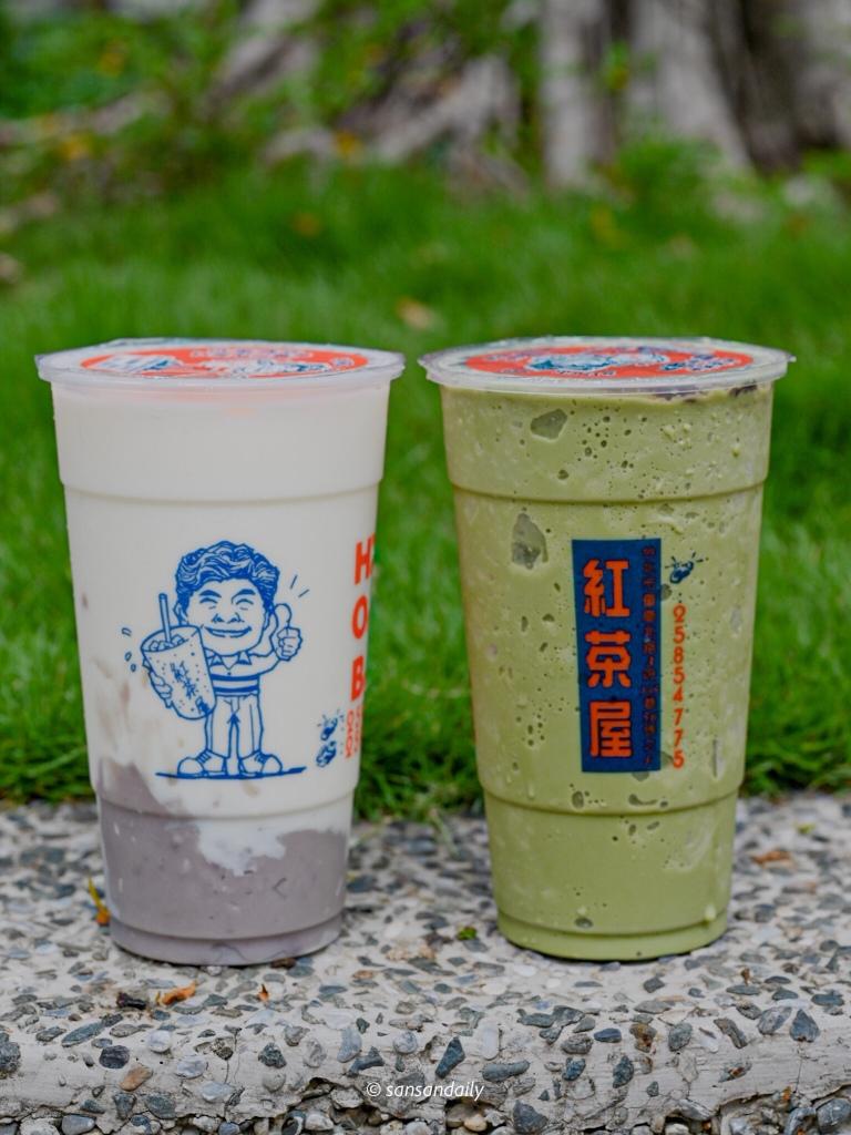 紅茶屋 芋頭牛奶和抹茶紅豆冰沙