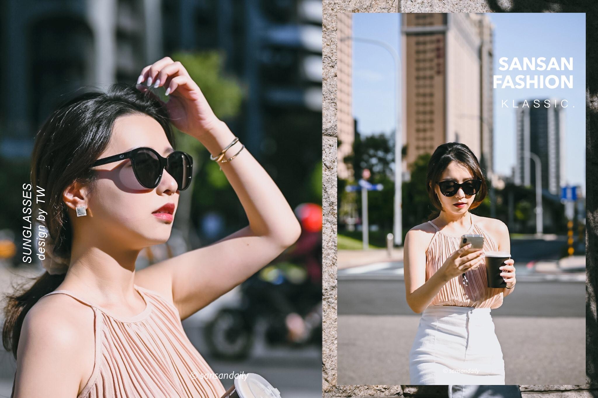 台灣設計師 抗UV旅行必備墨鏡 KlassiC.評價 小臉的時尚配件 |sansan選物