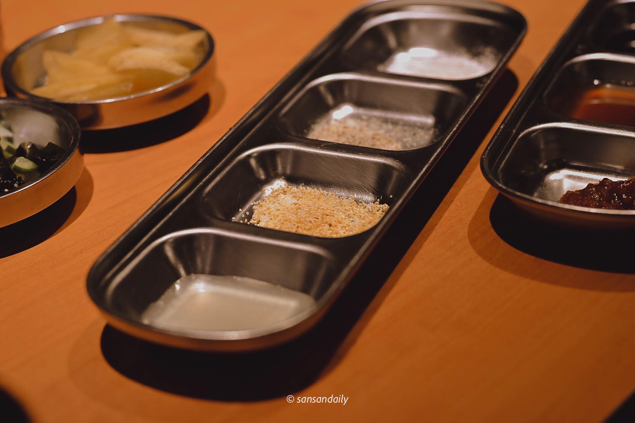 娘子韓食燒肉沾醬 檸檬汁蒜鹽胡椒鹽海鹽