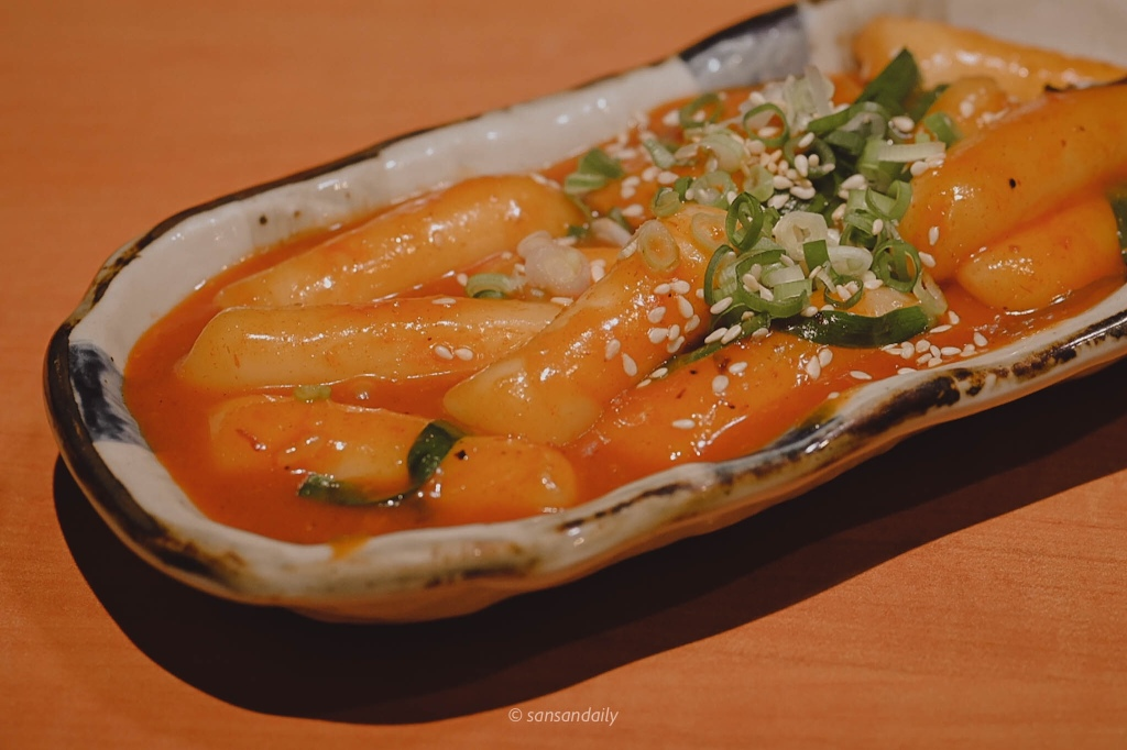 一盤韓式辣炒年糕
