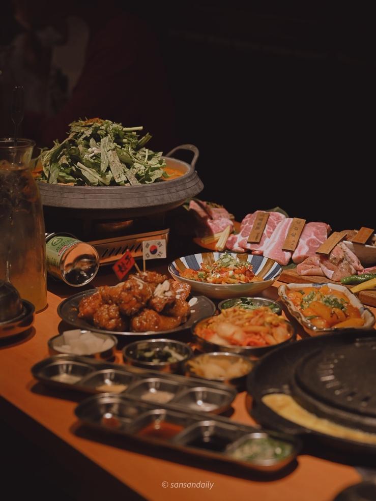 一整桌娘子韓食餐點