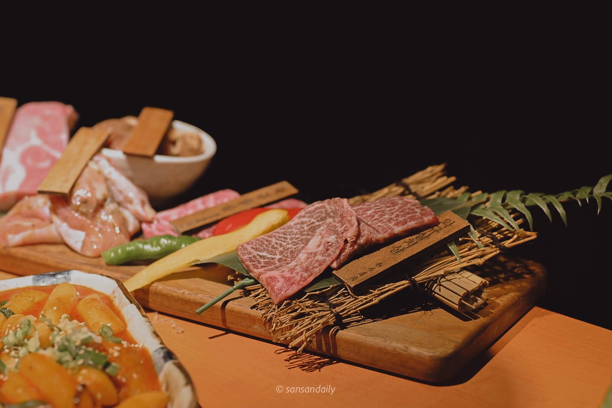 娘子韓食 油花分布很漂亮的和牛生肉