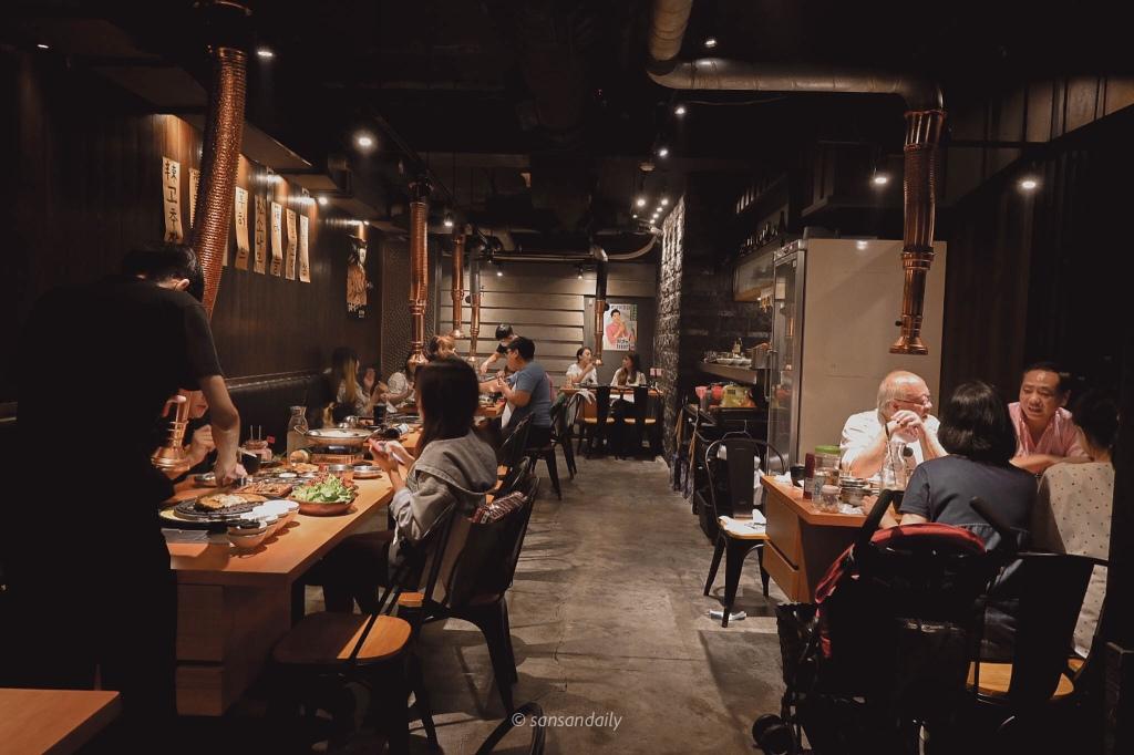 娘子韓食二樓客人用餐空間