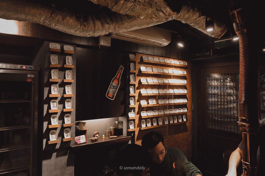 娘子韓食美食節目、藝人簽名牆